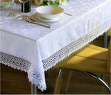 "Coating jacquard tablecloth with 4""lace"