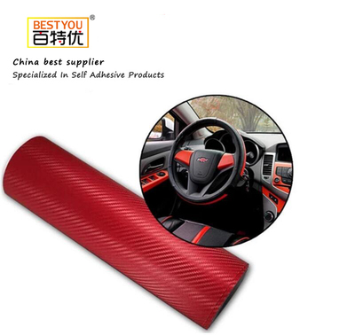 Hot Sale Car Sticker 3D Carbon Fiber Vinyl Air Bubble Free For Car Wrapping Film