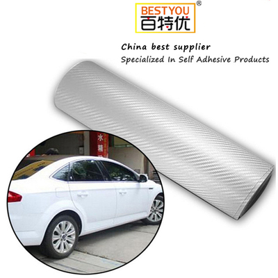 3D carbon fiber car cover sticker vinyl with air free bubble