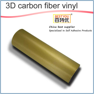Best You 1.52x30m Air Free Bubble PVC Film Wrap 6D Carbon Fiber Vinyl Sticker