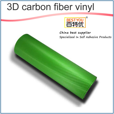 High Glossy Green 4D Carbon Fiber Car Wrap Vinyl Sticker Paper Decoration Car Wrapping Film Roll Swi