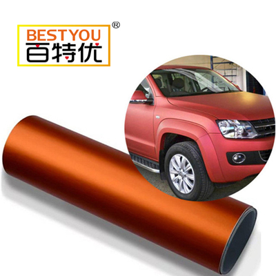 Orange color high glossy metallic car wrap vinyl car cover color changing stickers wrap vinyl