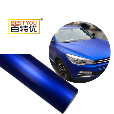 Dark Blue color high glossy metallic car wrap vinyl car cover color changing stickers wrap vinyl(1)